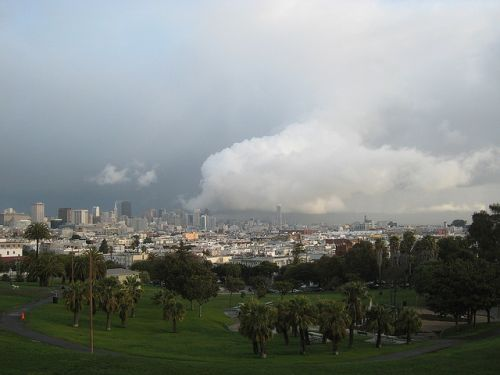 Storm boven San Francisco