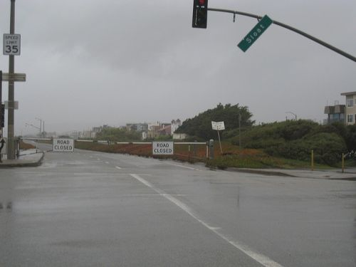 Gesloten wegen bij het strand door een storm in 2007 - San Francisco