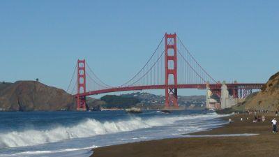 Golden Gate brug vanaf Baker Beach